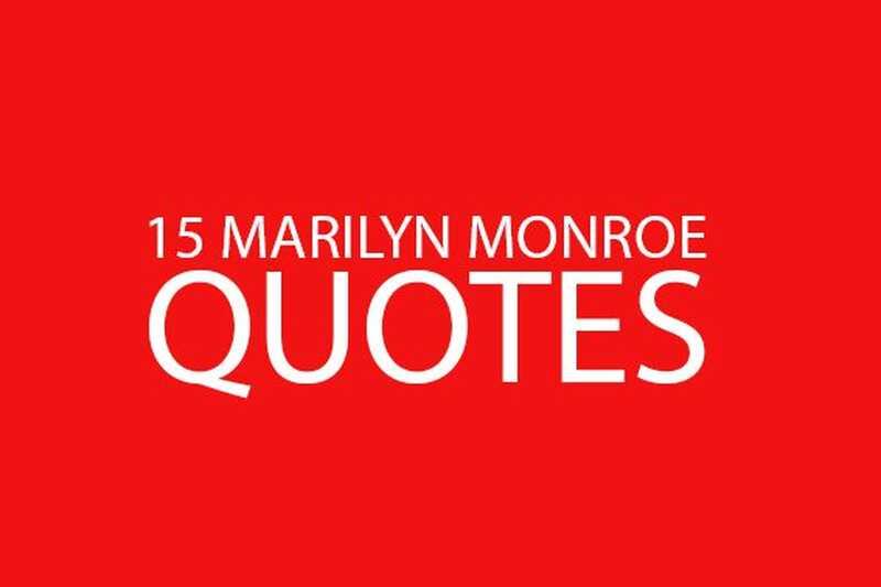 15 Marilyn Monroe vas citira, da vas navdihnejo