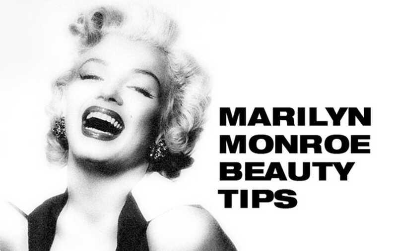 10 lepotnih nasvetov Marilyn Monroe